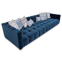 Delano Modular Sofa in Indigo Velvet