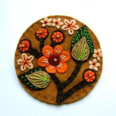 Blossom felt brooch with freeform embroidery by designedbyjane, £15.00