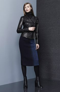 Midi Skirt and Moto Jacket