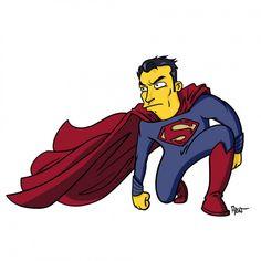 El hombre de acero (Man of Steel) Simpsonizado.