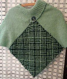 poncho cuello polera artesanal telar abrigado pullover