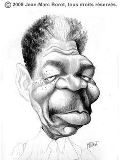 Morgan Freeman by Jean-Marc Borot