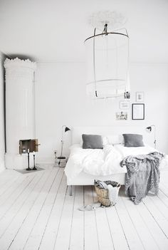 Adding a touch of light grey creates depth and softness to the interior