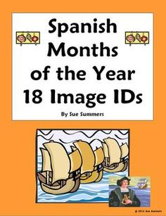 Spanish Months of the Year Vocabulary IDs Worksheet by Sue Summers - Spanish Calendar