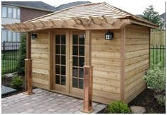 1000 images about shed plans building kits on pinterest for Build your own backyard office