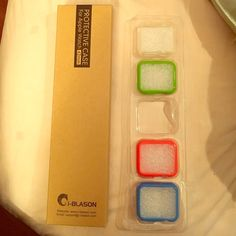 I-Blason Protective Cases for Apple Watch 42mm 4 different color cases for Apple Watch 42mm- clear, green, pink and blue. The only one missing is black. These have never been used or touched besides the black one which was taken out. I-Blason Accessories