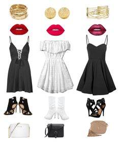 """Girls Night Out In Town"" by annielyn on Polyvore featuring Glamorous, Abercrombie & Fitch, Michael Antonio, Lime Crime, Michael Kors, Yves Saint Laurent, ABS by Allen Schwartz and Carolina Bucci"
