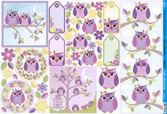 Decoupage, Birds, Comics, Cute, Paper Craft Supplies, Owls, Wings, Stickers, Kawaii
