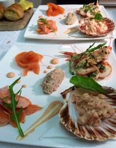 "Our delicious Seafood Platter consists of Fresh Tiree Langoustines, Crayfish, Hot Smoked and Cold Smoked Salmon from the Glenuig Smokehouse and Quenelle of Fresh Tiree Spiced Crab. We serve this as a delicious Starter or Main Course. Our ""seafood specials"" blackboard from Thursday https://www.facebook.com/106995292674774/photos/a.337530956287872.80229.106995292674774/740938402613790/?type=3"