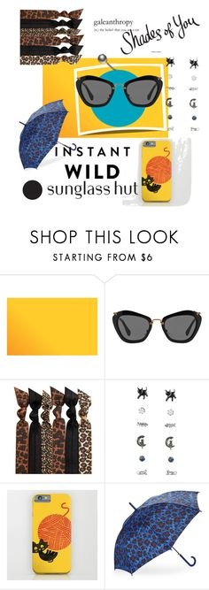 """Shades of You: Sunglass Hut Contest Entry"" by vlmhark ❤ liked on Polyvore featuring Miu Miu, Emi-Jay, Betsey Johnson and shadesofyou"