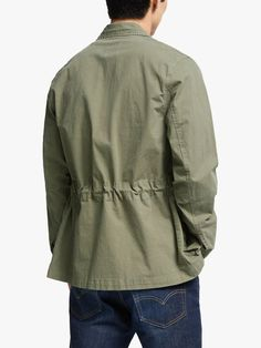 Buy John Lewis & Partners Garment Dye Ripstop Field Jacket, Olive from our Men's Coats & Jackets range at John Lewis & Partners. Signature Look, Plain Shirts, Field Jacket, John Lewis, Types Of Shirts, Military Jacket, Personal Style, Mens Fashion, Moda Masculina
