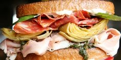 Stack up all the components of an antipasto platter for a sandwich that's molto bene.