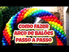 Como Fazer Arco de Balões / Arco de Bexigas (Passo a Passo) Balloon Arch, Balloon Garland, Rainbow Birthday Party, Girl Birthday, Pretty Cool, Diy Crafts, Creative, Videos, Balloon Wall