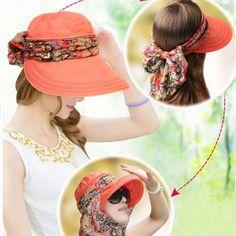 High-quality Summer Outdoor Sun Protective Gardening Hat Sun Hat Anti-UV Wide Brim Visor Cap - NewChic Mobile.