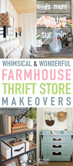 Whimsical and Wonderful Farmhouse Thrift Store Makeovers - The Cottage Market store crafts furniture makeover Country Farmhouse Decor, Farmhouse Furniture, Farmhouse Chic, Farmhouse Ideas, Farmhouse Design, Cottage Farmhouse, Primitive Furniture, Country Furniture, Cozy Cottage