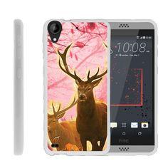 HTC Desire 530 FLEX FORCE Flexible Slim Fit Case - Pink Deer Stag