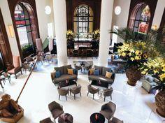 The lobby of Bulgari Hotel London