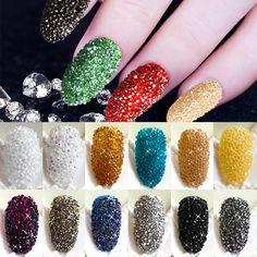 Neuheiten 5000 Teile/schachtel Wizard Perlen Kristall Sand Nagel Strass Tiny Nagel Perlen Fingernägel Rhinestone Für Nägel Zubehör