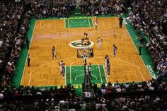TD Banknorth Garden - probably one of the coolest places i've ever been. My view was much better courtside!  :)