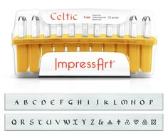 Typewriter Font Metal Letter Stamps 3mm Uppercase Steel Alphabet Punch Set for Imprinting Soft Metals ImpressArt Leather and Wood