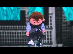 VIDEO:  Paul Zerdin, Ventriloquist, on America's Got Talent 2015, Quarter Final 1 - posted by Anthony Ying on YouTube  (8 min. 45 sec.);  This time the ventriloquist leaves the stage and the puppet takes over.