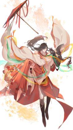 TGCF Manga Anime, Manga Art, Anime Guys, Anime Art, China Art, Cute Anime Couples, Blue Art, Cute Gay, Fujoshi