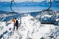 So whether you planned for snow on your wedding day� | 38 Couples Who Absolutely Nailed Their Winter Weddings