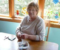 Sue Hubbard is a local glass fuser in Gwinn, Michigan.