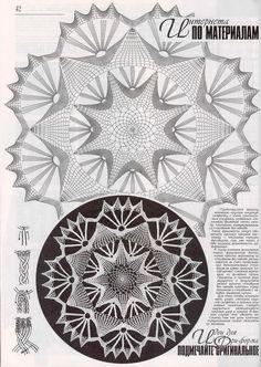 """Photo from album """"Дуплет on - Her Crochet Crochet Doily Diagram, Crochet Doily Patterns, Crochet Mandala, Crochet Art, Crochet Home, Irish Crochet, Crochet Motif, Crochet Stitches, Crochet Dollies"""