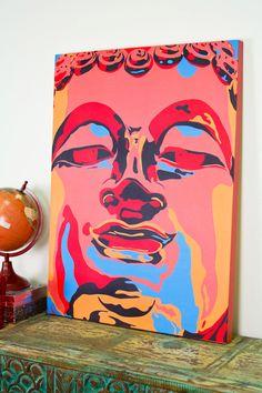 Pop Art Buddha Canvas Art from Earthbound. A definite statement piece for your wall. Buddha Canvas, Canvas Wall Art, Canvas Prints, Artist Loft, Wall Decor, Room Decor, Decoration, Artsy Fartsy, Dream Catcher