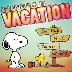 Happiness is.....vacation or ferien auf Deutsche. And the cities on the pole are all in Europe. Classy.