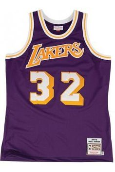 9d49d464841 Mitchell   Ness LOS ANGELES LAKERS Authentic Jersey - Magic Johnson  32