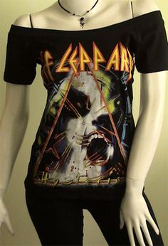 DEF LEPPARD Heavy Metal DIY Women  Shirt M at @eBay INCREDIBLE!! Starts $9.99 One day left!!