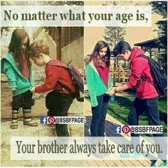 No treasure compares to the love of a brother. :) Love you bro Tag-mention your brother and sister,, sooo cute ❤❤❤💖missing my bhai Brother And Sister Memes, Brother And Sister Relationship, Sister Quotes Funny, Brother And Sister Love, Daughter Quotes, Funny Quotes, Brother Brother, Father Daughter, Sweet Sister Quotes