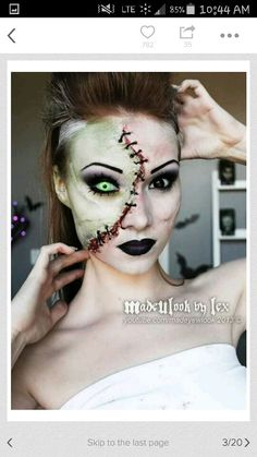 Bride of Frankenstein makeup inspiration