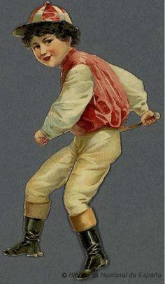 Gais cavaliers, sur différents animaux. Grabado — 1890-1910?