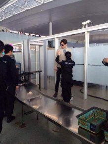 Weibo 2014 Dec 07 : 机场黑衣人小宇哥的微博 : Korean Actor Lee Min Ho : Airport checking (1)