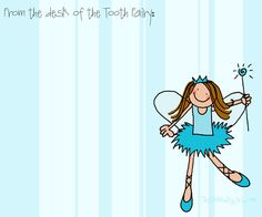 """My AMAZINGLY talented & creative friend, @Rebekah Sellers, aka """"The Doodle Girl""""...   Tooth-Fairy-Note-Template :)"""