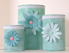 upcycled soup cans