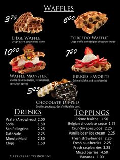 Hours & Locations Menu Waffle Bus