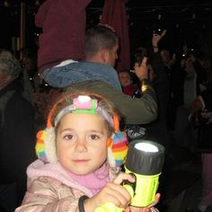 Kids love all of PTEC lights especially when the pink Byte matches perfectly with her ear muffs!