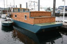 The former cannery barge turned houseboat by a local boat renovator is seen on June 15 moored at Thomas Basin in Ketchikan. Description from juneauempire.com. I searched for this on bing.com/images