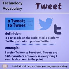 Foreign language with Worddio Technology Vocabulary, English Tips, New Words, Languages, Something To Do, Social Media, App, Learning, Friends