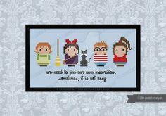 Cross stitch patter available @cloudsfactory.net/kiki-s-deliv…