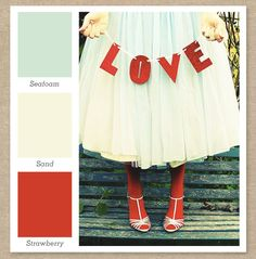 Red, Mint Green  Cream Color Palette by Sarah Hearts