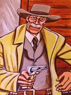 """PALE RIDER ORIGINAL PAINTING man cave art-western movie john russell clint eastwood colt cowboy. 22x30"""" ACRYLIC PAINTING on heavy art paper. This """"READY TO FRAME"""" painting will be professionally packed and shipped in a sturdy mailing tube, insured via USPS Priority Mail. I am John Froehlich the artist. My vibrant colored artwork will become a focal point and conversation piece in your home, man cave, business or office!-I have sold thousands of paintings and commissioned portraits of…"""