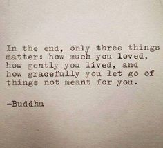 3 things matter