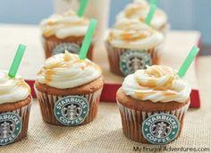 Starbucks cupcakes sooo cute:-)