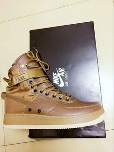 6415d35444 Original Special Nike Special Forces Air Force 1 Boots Dark Brown Sale