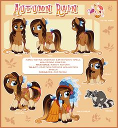 #960113 - artist:centchi, earth pony, headdress, oc, oc:autumn rain, raccoon, reference sheet, safe, solo - Derpibooru - My Little Pony: Friendship is Magic Imageboard